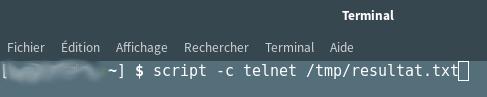 Enregistrer une session telnet dans un fichier